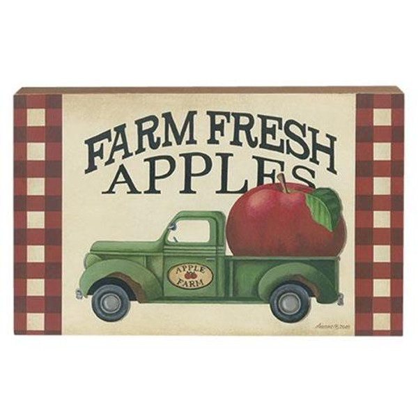 Farm Fresh Apple Truck Dimensional Box Sign G34639 By CWI Gifts