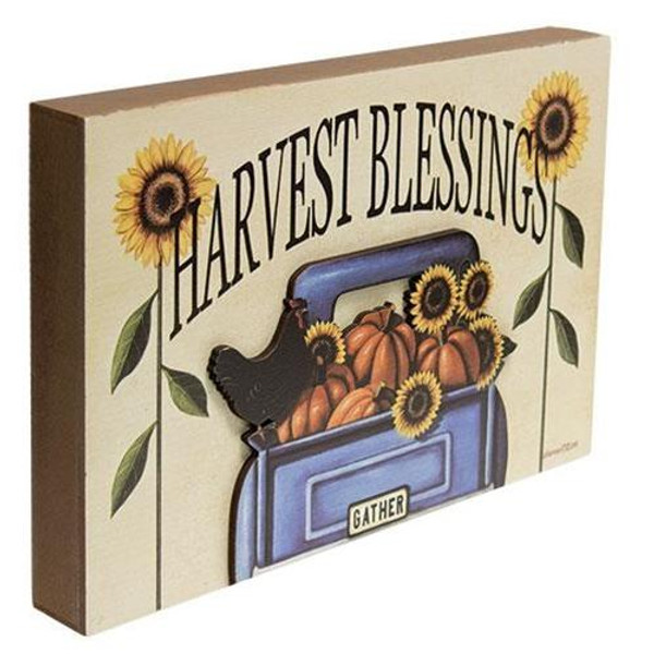 Harvest Blessings Truck Dimensional Box Sign G34640 By CWI Gifts