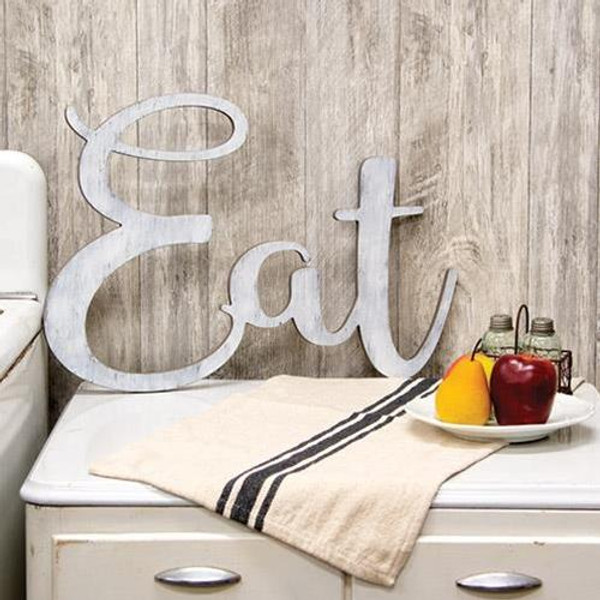 """""""Eat"""" Wooden Cutout Wall Hanging G34700 By CWI Gifts"""
