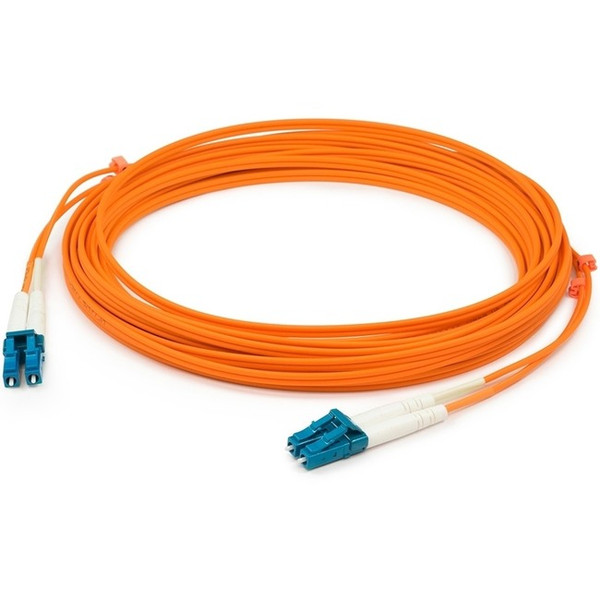 100M Lc (Male) To Lc (Male) Orange Om1 Duplex Fiber Ofnr (Riser-Rated) Patch Cable By Addon