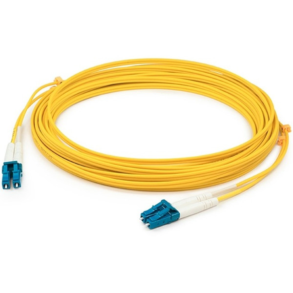 0.5M Lc (Male) To Lc (Male) Yellow Os1 Duplex Fiber Ofnr (Riser-Rated) Patch Cable By Addon