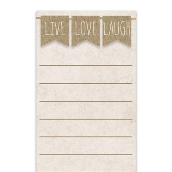 Live Love Laugh Notepad G50033 By CWI Gifts