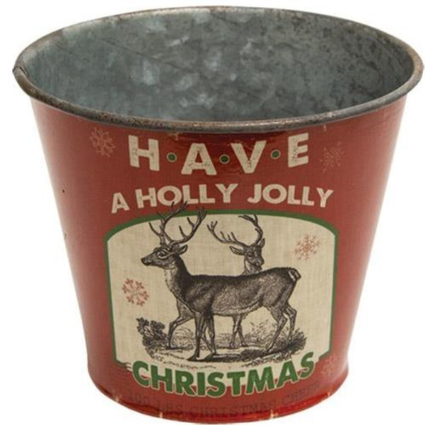 ^Holly Jolly Christmas Bucket G60247 By CWI Gifts