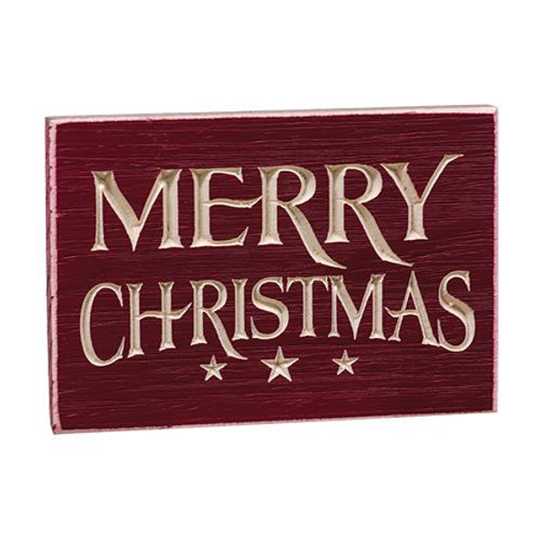 Merry Christmas Engraved Sign G604 By CWI Gifts