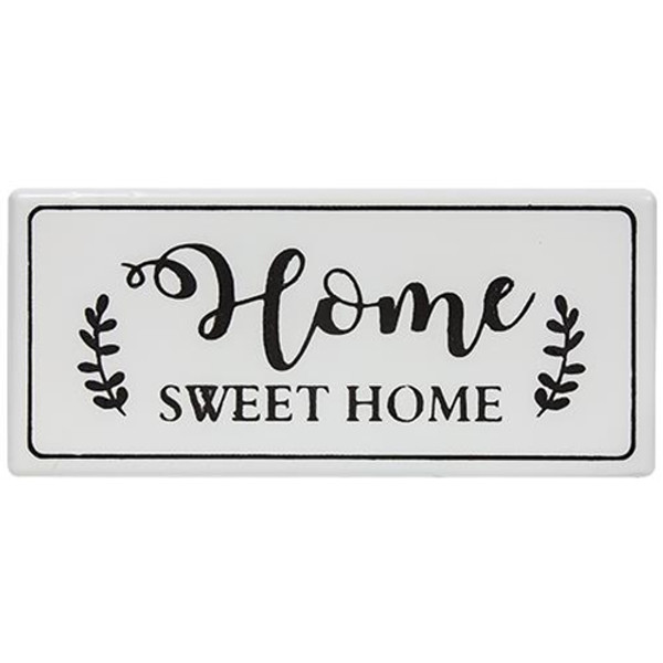Home Sweet Home White Metal Wall Sign G65115 By CWI Gifts