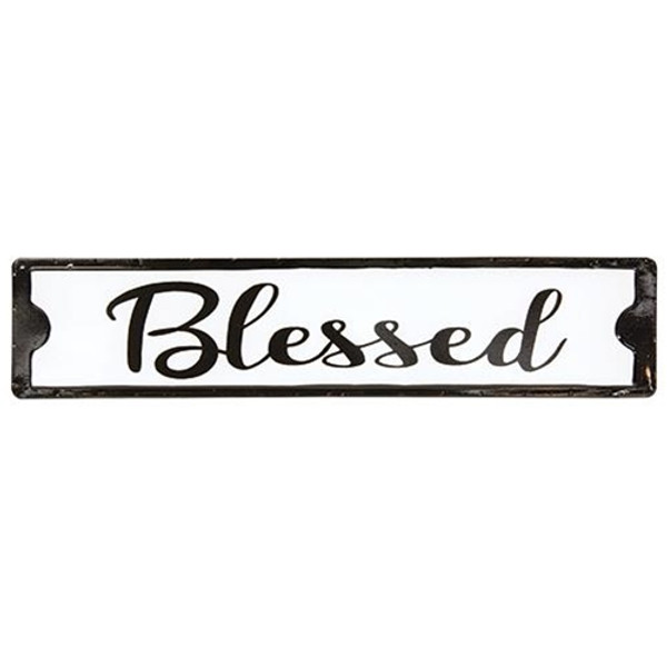 Blessed Black And White Street Sign G65117 By CWI Gifts