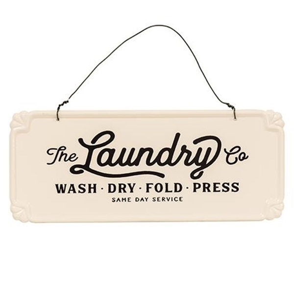 The Laundry Co. Vintage Hanging Sign (Pack Of 5) G65121 By CWI Gifts