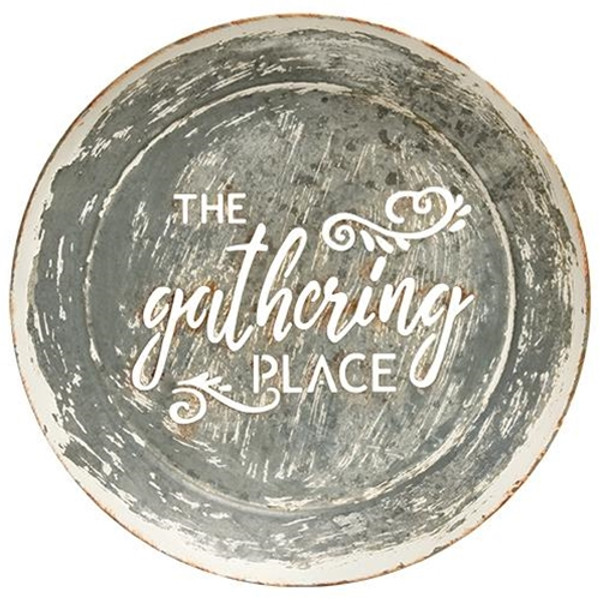 The Gathering Place Distressed Metal Wall Sign G65129 By CWI Gifts