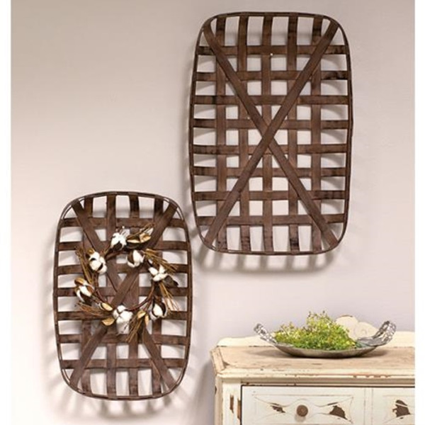 2/Set Tobacco Baskets G70001 By CWI Gifts