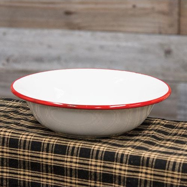 Red Rim Enamel Soup Bowl (Pack Of 5) G7018 By CWI Gifts