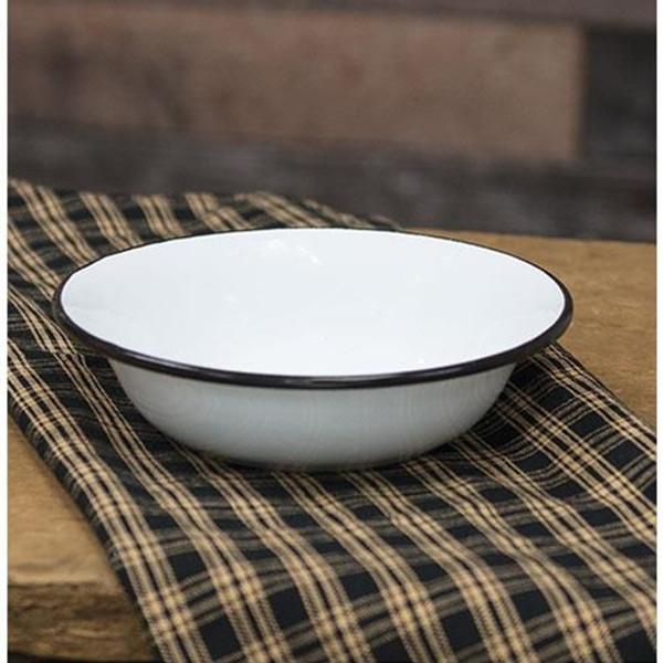 Black Rim Enamel Soup Bowl (Pack Of 5) G7018BK By CWI Gifts