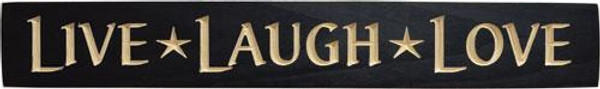 Live Laugh Love Engraved Sign - Black G9026BK By CWI Gifts