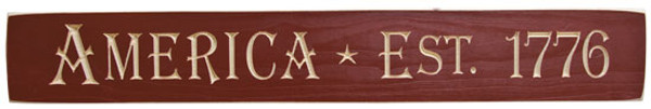America 1776 Engraved Sign G9062 By CWI Gifts