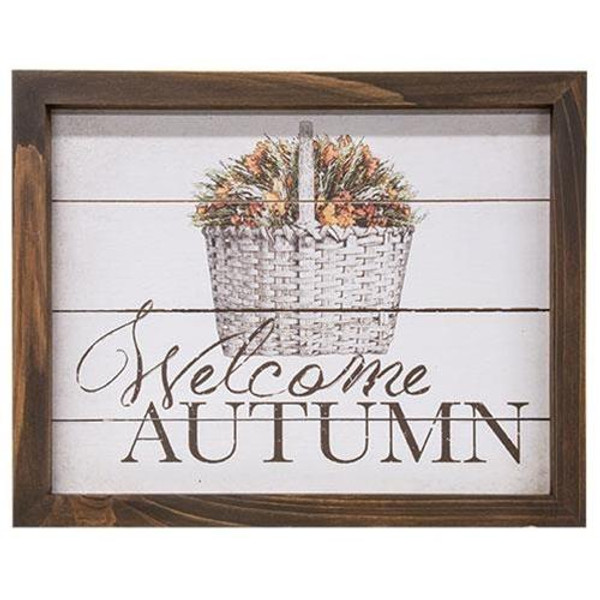 Welcome Autumn Easel G90727 By CWI Gifts