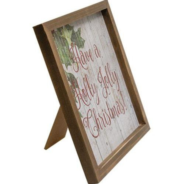 Holly Jolly Christmas Easel G90742 By CWI Gifts