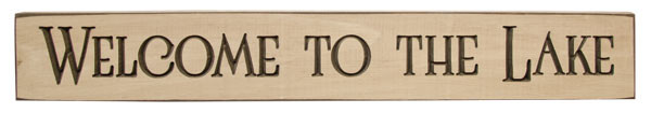 Welcome To The Lake Engraved Sign G9093 By CWI Gifts