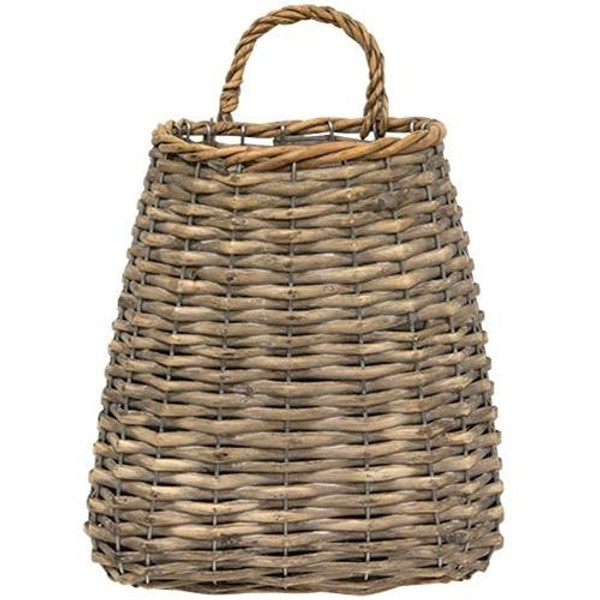 """Grey Wash Basket 9"""" GBW9465 By CWI Gifts"""