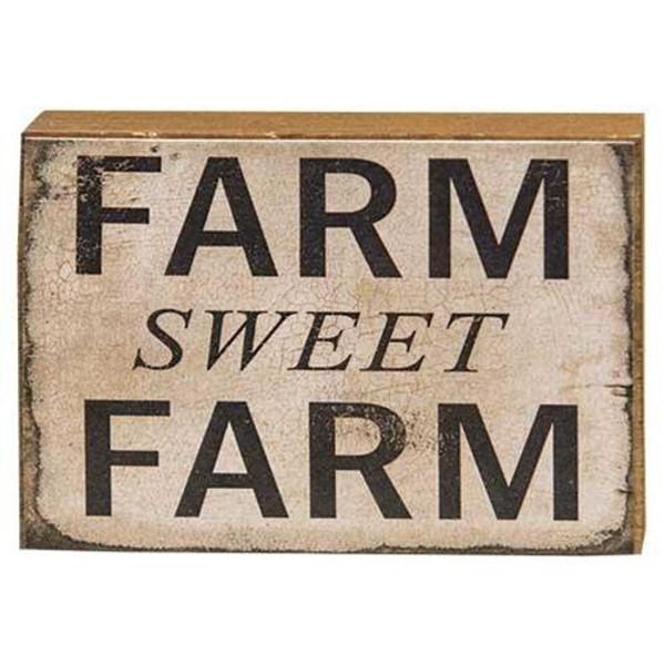 Farm Sweet Farm Block GFCB213 By CWI Gifts
