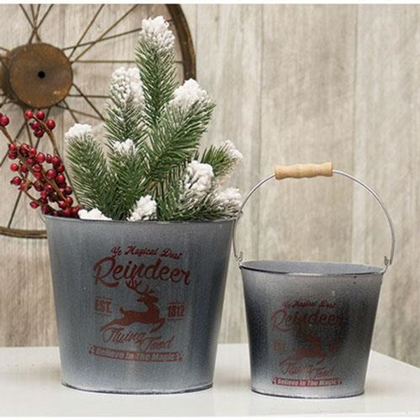 2/Set Reindeer Buckets GH17Y12022 By CWI Gifts
