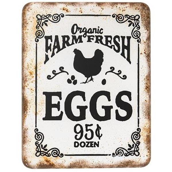 Organic Farm Fresh Eggs Retro Look Sign GHDY18011 By CWI Gifts