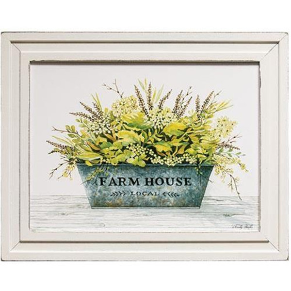 Farm House Bucket Framed Print GKC11021216 By CWI Gifts