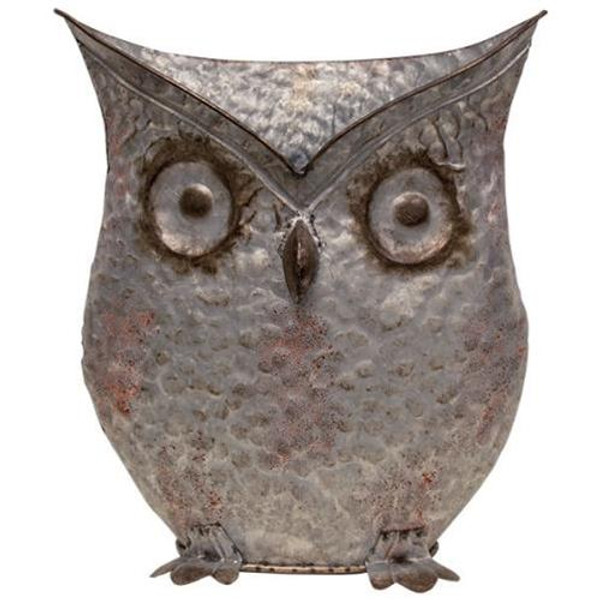"""Aged Owl Bucket 13.5"""" GM9985 By CWI Gifts"""