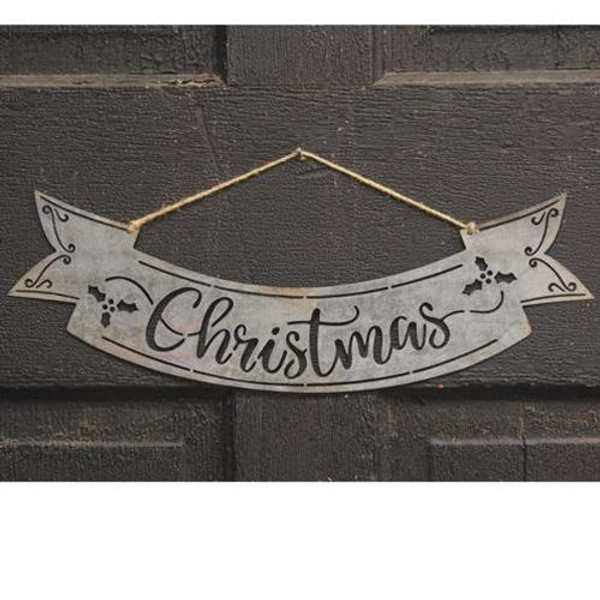 Christmas Cutout Metal Hanging Banner GQC81098 By CWI Gifts