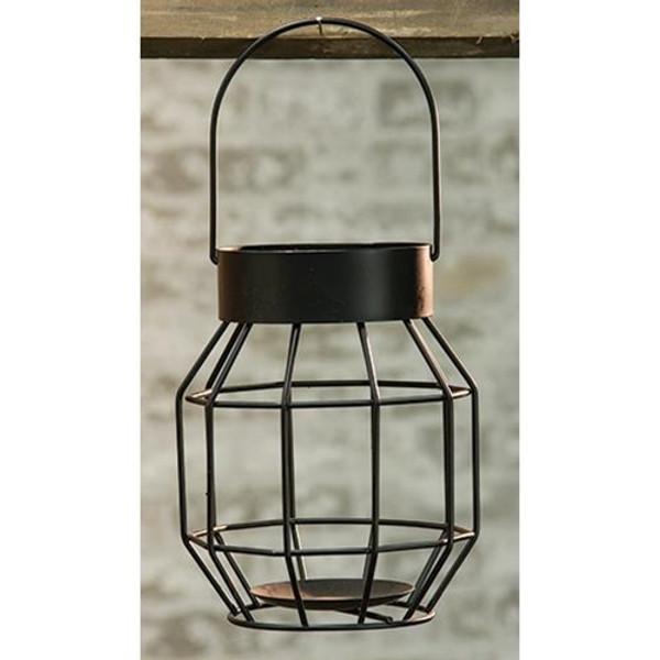 Black Iron Cage Lantern GTGA87552 By CWI Gifts