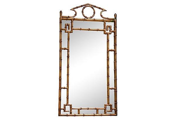 Antique Gold Bamboo Mirror HC604 by Dessau Home