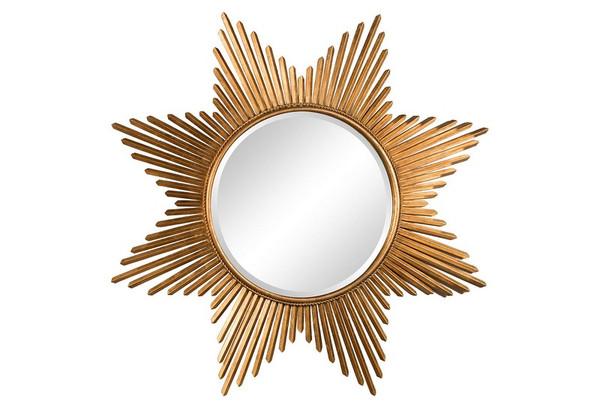 Antique Gold Star Burst Mirror HC668 by Dessau Home