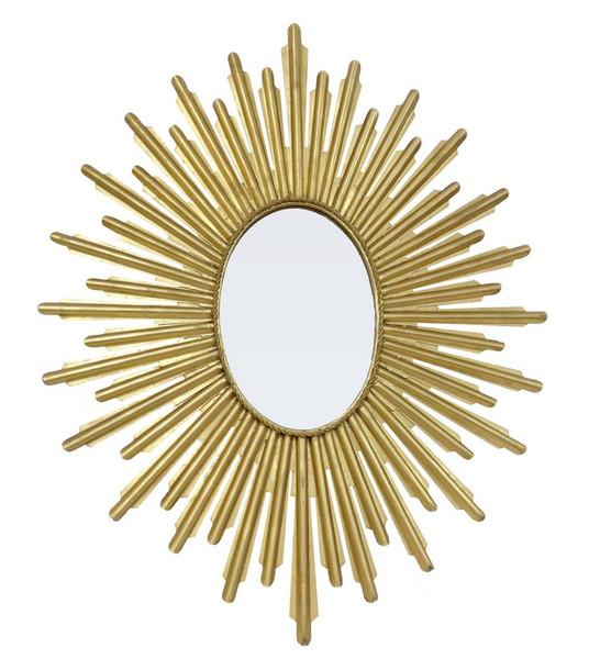 Antique Gold Oval Starburst Mirror HC707 by Dessau Home
