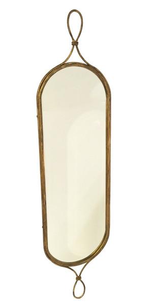 Antique Gold Loop Hallway Mirror HC741 by Dessau Home