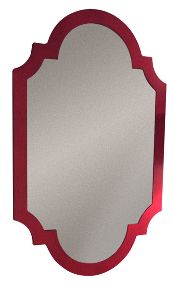 Red Asian Chippendale Mirror NY040 by Dessau Home