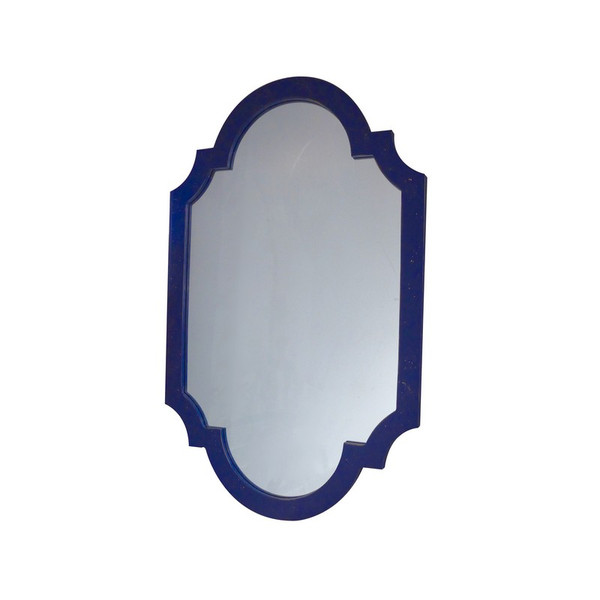 Antique Blue Chippendale Mirror NY046 by Dessau Home