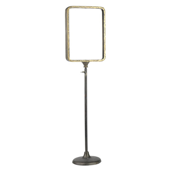 DK Living  Iron Rut Mirror On Stand 53531