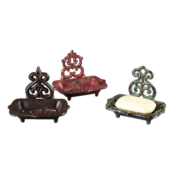 Set Of 3 Soap Dishes 129-1021/S3 By Sterling