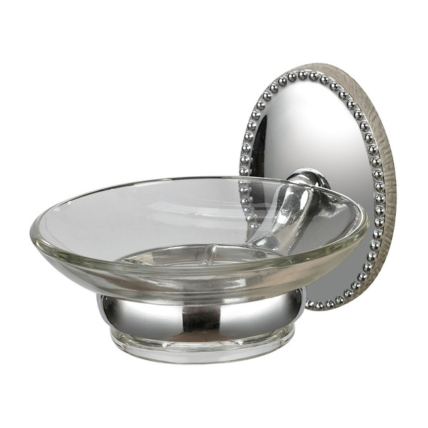 Soap Dish Holder In Chrome Glass 131-015 By Sterling