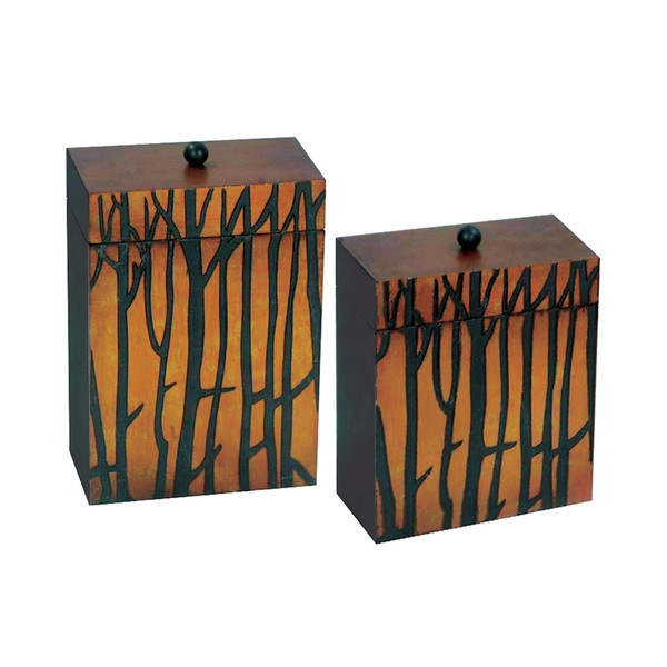 A-Set Of 2 Branch Boxes 51-0186 By Sterling