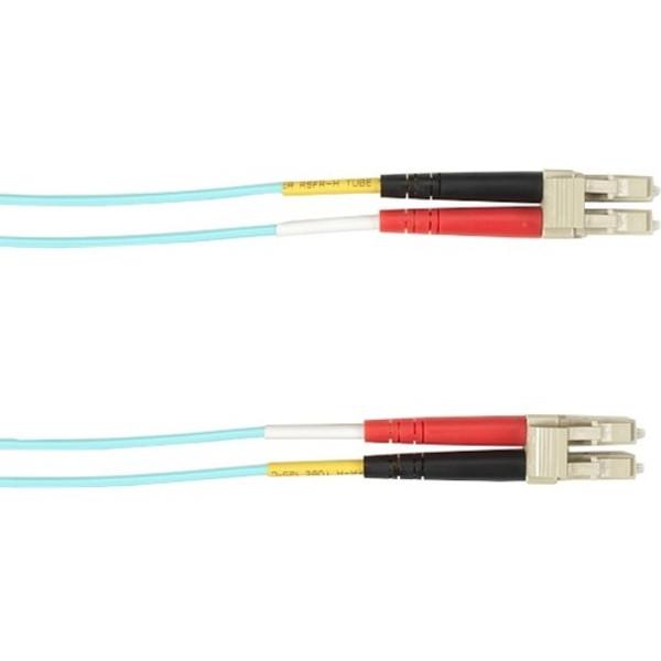 1-M, Lc-Lc, 50-Micron, Multimode, Plenum, Aqua Fiber Optic Cable By Black Box