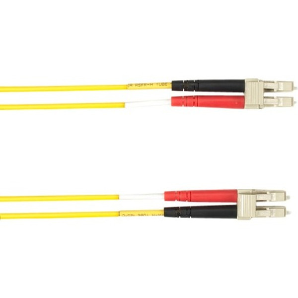 1-M, Lc-Lc, 50-Micron, Multimode, Plenum, Yellow Fiber Optic Cable By Black Box
