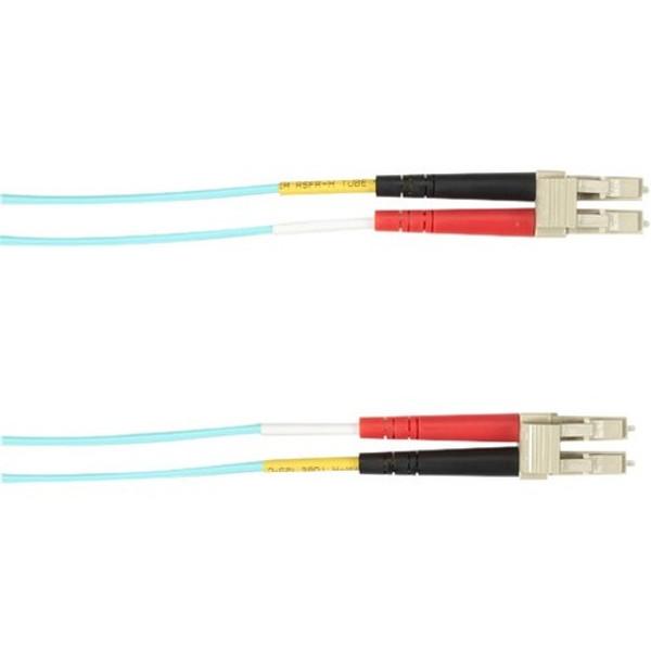 1-M, Lc-Lc, 50-Micron, Multimode, Pvc, Aqua Fiber Optic Cable By Black Box