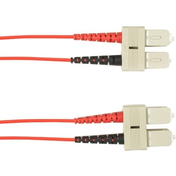 4-M, Sc-Sc, 50-Micron, Multimode, Pvc, Red Fiber Optic Cable By Black Box