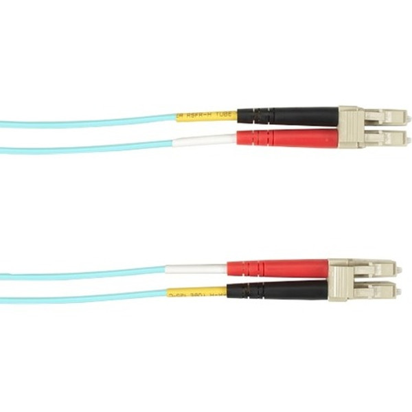 7-M, Lc-Lc, 62.5-Micron, Multimode, Pvc, Aqua Fiber Optic Cable By Black Box