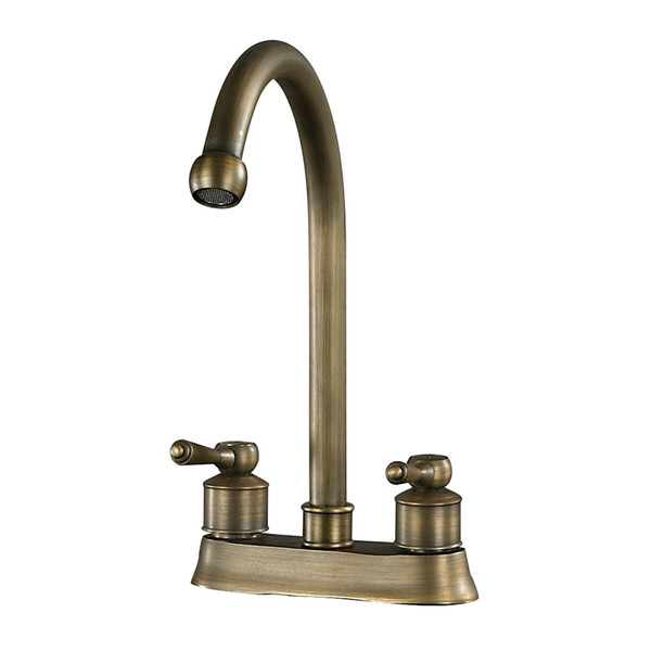 9.5-Inch 2 Handle Centre Set Antique Brass Faucet 88-9016 By Sterling