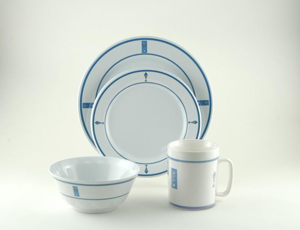 Galleyware Decorated Melamine Non-skid 24 Piece Dinnerware Set 1076-L 24