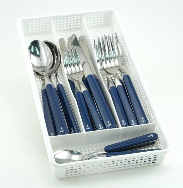 Galleyware 20 Piece Anchor Flatware Plus Storage Tray Service for Four FA 4661