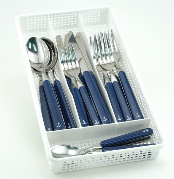 Galleyware 30 Piece Anchor Flatware Plus Storage Tray Service for Six FA 4661-30