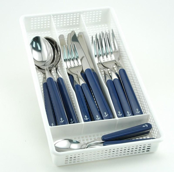 Galleyware 40 Piece Anchor Flatware Plus Storage Tray Service for Eight FA 4661-40