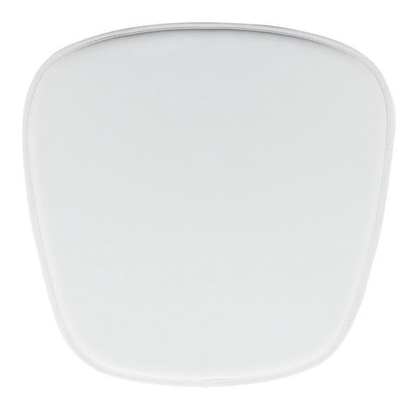 "Homeroots 17"" X 17"" X 0.5"" White, Leatherette, Chair Cushion 248942"