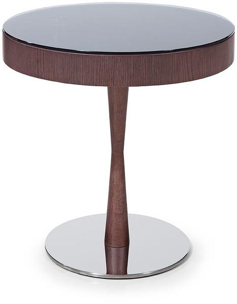 """Homeroots 22"""" Brown Oak Veneer Round End Table 284464"""